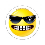 Merkloos Stoere Smiley sticker type 3