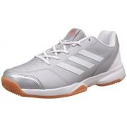 adidas Men's Gumption Indoor Silvmt, Ftwwht and Gum1 Indoor Multisport Court Shoes - 7 UK/India (40.67 EU)