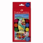 Acuarele 21 culori 30MM + Pensula Faber-Castell