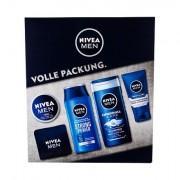 Nivea Men Original sada sprchový gel 250 ml + šampon Strong Power 250 ml + univerzální krém Men Creme 150 ml + denní pleťová péče Protect & Care 75 ml + ručník 1 ks pro muže
