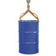 Fasszange für stehende 200-l-Stahl-Spund- und Deckelfässer orange