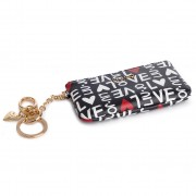Калъф за ключове LIU JO - Key Ring W/Purse N19248 E0010 Bianco/Nero 00054