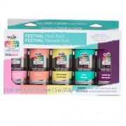 Tulip 35029 Instant Color Shots Festival Fabric Paint (5 Pack)
