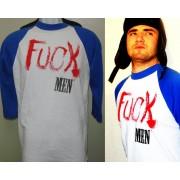 Tumbler & Tipsy FUCK MEN Exclusive Blue Baseball Shirt