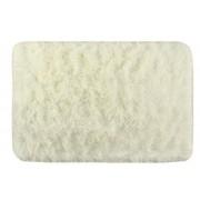 Covor pufos pentru interior sau baie, anti-alunecare, 58.5x40 cm, culoare crem