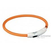 Lesă iluminată cu încărcător USB Trixie XS-S 35cm/7mm, orange