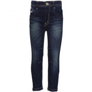 T S Blue Jeans slim fit pattern solid material cotton