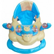 Oh Baby Baby Duck Shape Adjustable Musical Blue Color Walker For Your Kids Se-W-70