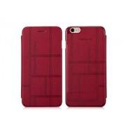 Momax Elite Premium Flip Cover for iPhone 6s Plus/6 Plus - Apple Leather Wallet Case (Red)
