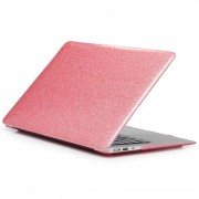 Apple Glittery Powder Laptop PU Leather Paste Case for MacBook Air 13.3 inch A1932 (2018) (Pink)