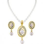 Sri Jagdamba Pearls Charming Pearl Pendant Set