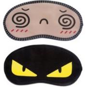 Jonty Spiral-YellowEye Cartoon Travel Sleeping Eye Cover Blindfold (Pack of 2) Eye Shade(Multicolor)
