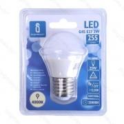 Italy's Cartridge LAMPADINA LED A5 G45 7W ATTACCO E27 - 520 LUMEN - 3000K LUCE CALDA - GRANDE ANGOLO 230 MISURA D45*H83mm CRI80Ra