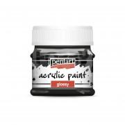 Pentart Fényes fekete színű akril bázisú hobbi festék 50 ml