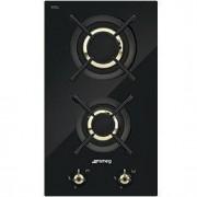 Smeg 30cm Classic Gas Hob, Black Glass - PC32GNO