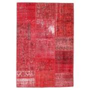 Annodato a mano. Provenienza: Turkey Tappeto Fatto A Mano Patchwork 121X178 Rosso/Rosa/Ruggine/Rosso (Lana, Turchia)