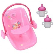 """Baby Alive Doll Car Seat And 2 Pack Sippy Cup Bundle For 16"""" Dolls (Pink)"""