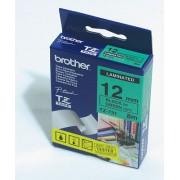 Banda laminata Brother TZ731, 8m/12mm negru/verde