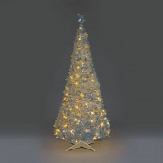 All Round Fun 4ft Silver Holly LED Pre-Lit Pop-Up Christmas Tree