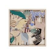 Ferm Living Figurines Safari Animals / Set animaux en bois - 12 pièces - Ferm Living multicolore en bois