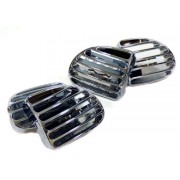 Grilles chrom aeration tuning Peugeot 206 (11031)