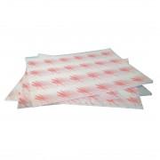 Nisbets Vetvrij hamburger papier rood - 1000