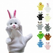 Honor2008 Newest Hot Sale Cute Big Size Animal Glove Puppet Hand Dolls Plush Toy Baby Child Zoo Farm Animal Hand Glove Puppet Finger Sack Plush Toy(Rabbit)