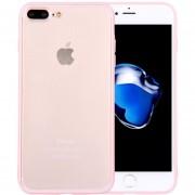 Para IPhone 8 Plus Y 7 + TPU + PC Transparente Funda Protectora (rosa)