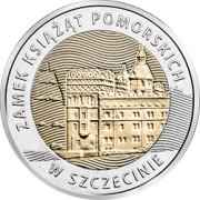 5 zł 2016 Zamek Książąt Pomorskich w Szczecinie - Odkryj Polskę
