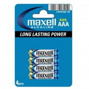 Maxell Baterie MAXELL alkaiczne AAA LR03 4szt.