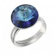 Inel argint 925 cu swarovski elements 12mm Bermuda Blue