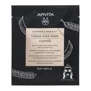 Express beauty alfarroba máscara tecido detox e purificante 20ml - Apivita