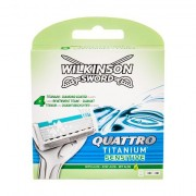 Wilkinson Sword Quattro Titanium Sensitive sada náhradních břitů 8 ks pro muže
