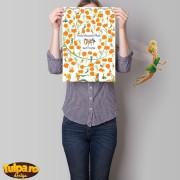 Guest Book cu Tinkerbell (30 persoane) pentru botez, tip poster
