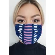 Masca de protectie albastru-inchis StarShinerS din material textil