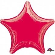 Balon folie stea rosu 45 cm