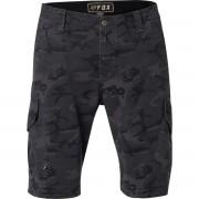 Pantaloni bărbătești scurți FOX - Slambozo Camo Cargo - Black Camo - 21365-247