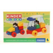 Peacock Kinder Blocks Car Set
