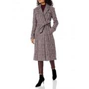 Cole Haan chamarra largo de lana para mujer, Burgundy, 12