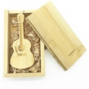 Green Tree Wooden guitar with box 16 GB Pen Drive(Gold)
