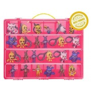 Five Nights At Freddys Carrying Case - Stores Dozens Of Figures - Durable Toy Storage Organizers By Life Made Better - Pink