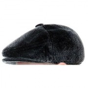 Tahiro Black Cotton Fur Casual Golf Cap - Pack Of 1