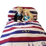 For American Girl Doll Bed 60 x 80cm Dolls Furniture Bed + Bedding Set Quilt sheet For BJD Dolls Furniture