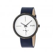 Simplify The 4400 Leather-Band Watch - Gunmetal/white/Navy SIM4403