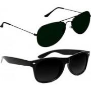 Fash-On India Aviator Sunglasses(Black, Black)