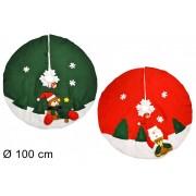 Tappeto Copri Base Albero di Natale