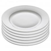 Maxwell & Williams Cashmere ontbijtbord Rim - Ø 21 cm - set van 6