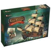 3 D Jigsaw Puzzle The Spanish Armada San Felipe Cubic Fun 3 D Puzzle T4017h 248 Pieces Decorative Fashion Best Seller Cubic Fun Exiting Fun Educational Historic Playing Building Game Diy Holiday Kids Best Gift Toy Set