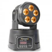 MHL90 Mini Robô de Luz Efeito Iluminação LED 5 x 18W RGBAW-UV 6-em-1