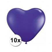 Shoppartners 10x Hart ballonnen paars